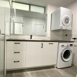 A photo of Bathroom Laundry Renovations: Combing functionality and style into a single room